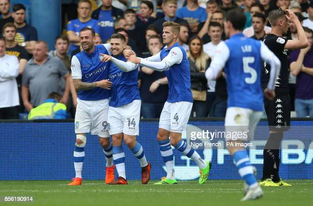 Sheffield Wednesday's Gary Hooper celebrates scoring his side's first goal of the game during the Sky Bet Championship match at Hillsborough Sheffield