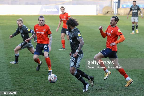 Sheffield Wednesday's Isaiah Brown breaks during the Sky Bet Championship match between Luton Town and Sheffield Wednesday at Kenilworth Road on...