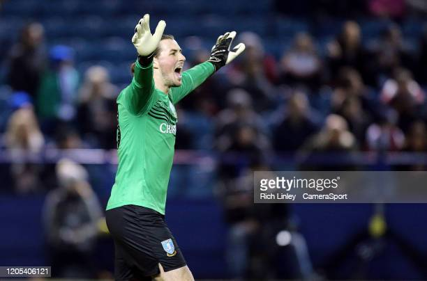 Sheffield Wednesday's Joe Wildsmith reacts during the FA Cup Fifth Round match between Sheffield Wednesday and Manchester City at Hillsborough on...