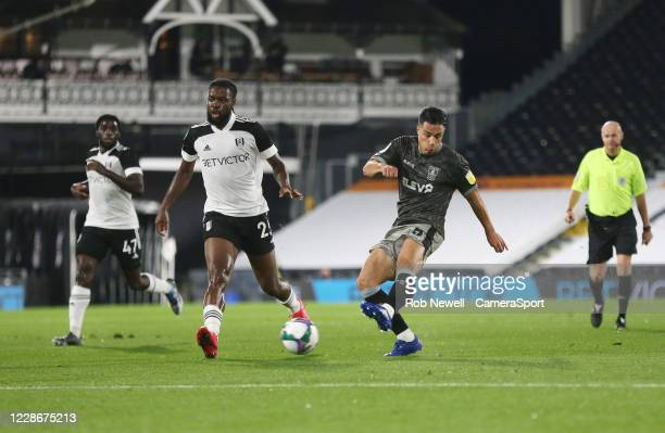 Sheffield Wednesday's Joey Pelupessy with a first half shot during the Carabao Cup Third Round match between Fulham and Sheffield Wednesday at...