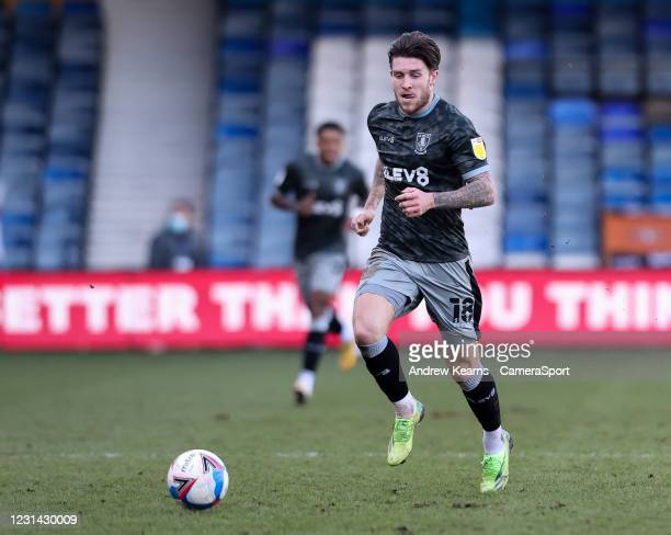 Sheffield Wednesday's Josh Windass breaks during the Sky Bet Championship match between Luton Town and Sheffield Wednesday at Kenilworth Road on...