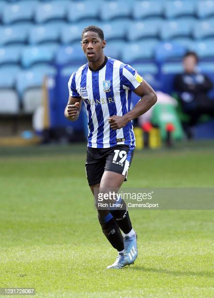 Sheffield Wednesday's Osaze Urhoghide during the Sky Bet Championship match between Sheffield Wednesday and Norwich City at Hillsborough Stadium on...