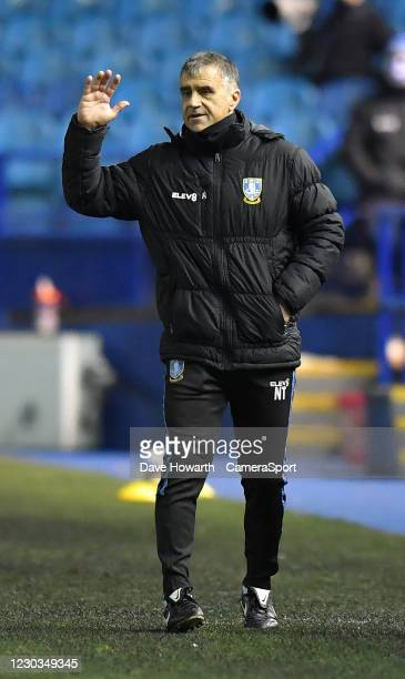 Sheffield Wednesday's stand in Manager Neil Thompson during the Sky Bet Championship match between Sheffield Wednesday and Middlesbrough at...