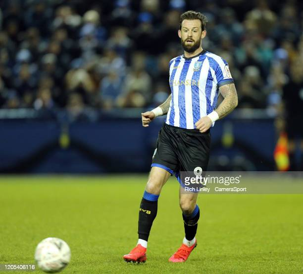 Sheffield Wednesday's Steven Fletcher during the FA Cup Fifth Round match between Sheffield Wednesday and Manchester City at Hillsborough on March 4...