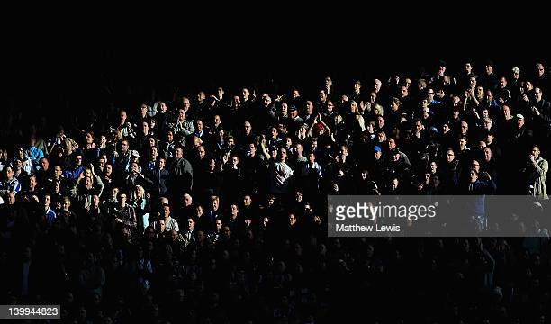 Sheffield Wednseday supporters look on during the npower League One match between Sheffield Wednesday and Sheffield United at Hillsborough Stadium on...