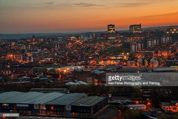 sheffiels skyline - sheffield stock pictures, royalty-free photos & images