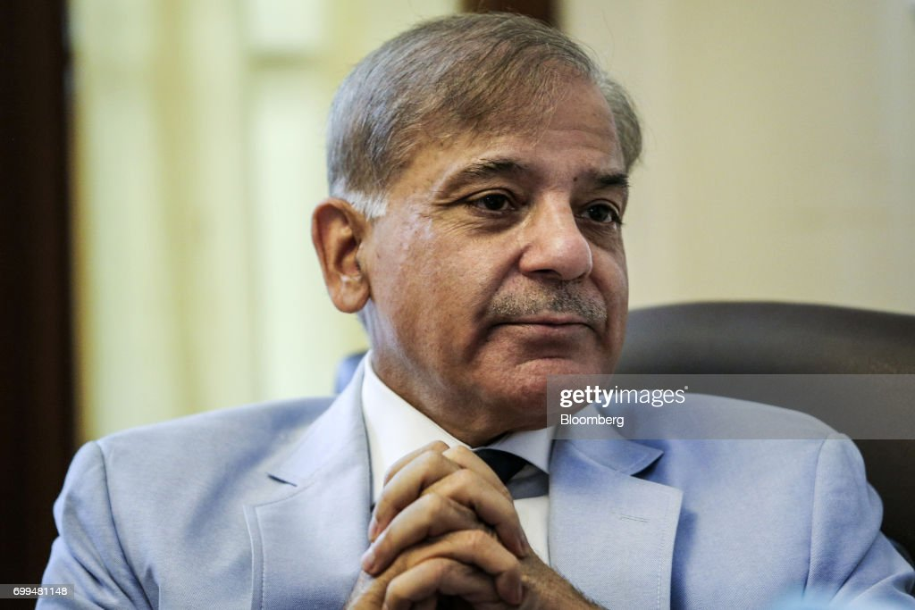 Shehbaz Sharif Pakistan's chief minister of the province of Punjab speaks during an interview in Lahore Pakistan on Tuesday June 13 2017 Pakistan.