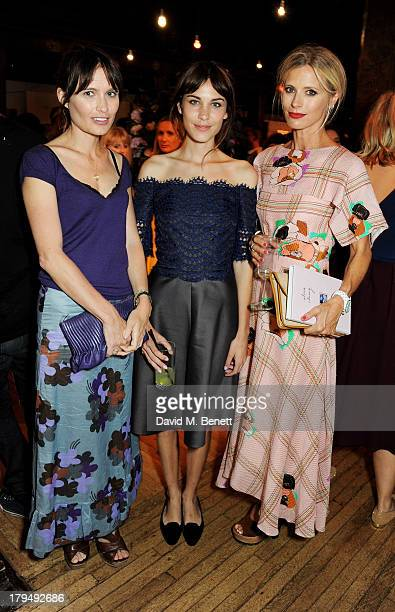 Sheherazade Goldsmith Alexa Chung and Laura Bailey attend the launch of Alexa Chung's first book 'It' at Liberty on September 4 2013 in London England
