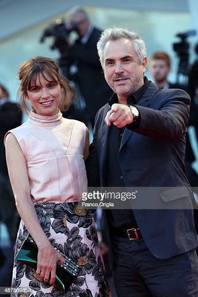 Sheherazade Goldsmith and Alfonso Cuaron attend a premiere for 'Remember' during the 72nd Venice Film Festival at Sala Grande on September 10 2015 in...