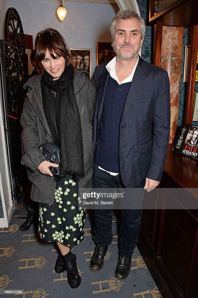 Sheherazade Goldsmith (L) and Alfonso Cuaron attend an after party celebrating the press night performance of 'Fatal Attraction' at Mint Leaf Restaurant on March 25, 2014 in London, England.