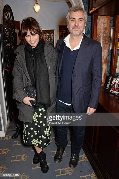 Sheherazade Goldsmith and Alfonso Cuaron attend an after party celebrating the press night performance of 'Fatal Attraction' at Mint Leaf Restaurant...