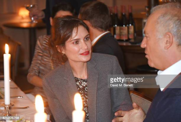 Sheherazade Goldsmith and Charles Finch attend a private dinner celebrating the special screening of 'Journey's End' at Kettner's Townhouse on...