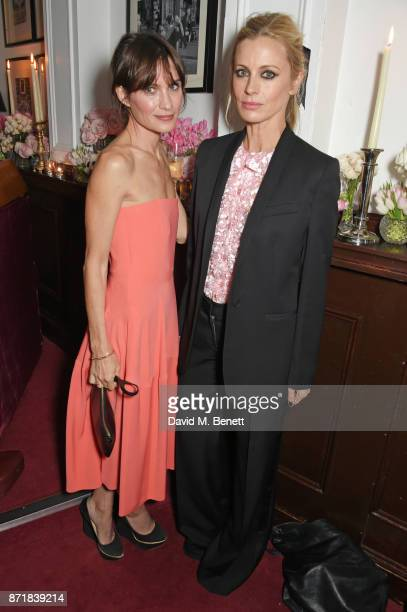Sheherazade Goldsmith and Laura Bailey attend a private dinner hosted by NETAPORTER and Stella McCartney to celebrate the launch of the Stella...