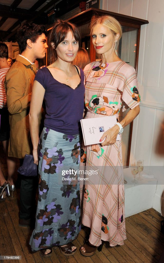 Sheherazade Goldsmith (L) and Laura Bailey attend the launch of Alexa Chung's first book 'It' at Liberty on September 4, 2013 in London, England.