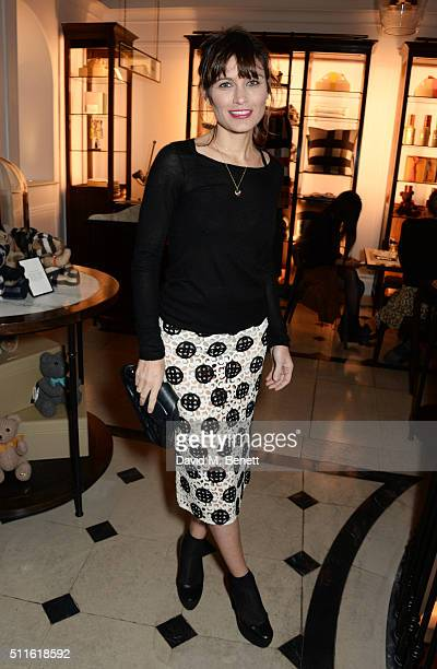 Sheherazade Goldsmith attend as mytheresacom and Burberry celebrate the new MYT Woman at Thomas's on February 21 2016 in London England