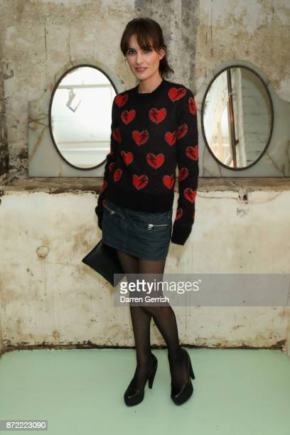 Sheherazade Goldsmith attends a cocktail party hosted by Laura Bailey and Zanzan at Alex Eagle on November 9 2017 in London England