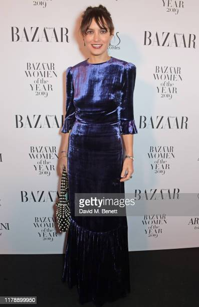 Sheherazade Goldsmith attends the Harper's Bazaar Women of the Year Awards 2019, in partnership with Armani Beauty, at Claridge's Hotel on October...