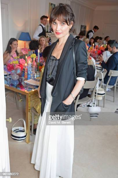 Sheherazade Goldsmith attends the NETAPORTER dinner hosted by Alison Loehnis to celebrate the launch of Rosie Assoulin's exclusive collection on May...