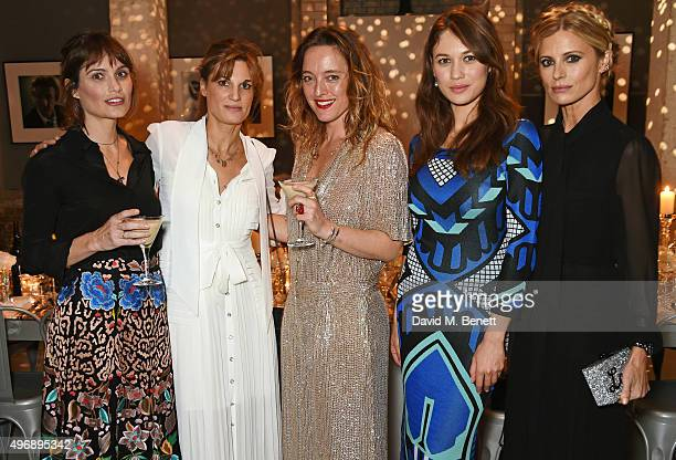 Sheherazade Goldsmith Jemima Khan Alice Temperley Olga Kurylenko and Laura Bailey attend an intimate dinner party hosted by Alice Temperley to...