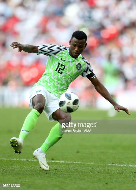 Shehu Abdullahi of Nigeria during the International Friendly between England and Nigeria at Wembley Stadium on June 2 2018 in London England