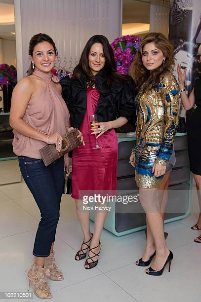Shehzeen Jahangir Nadia Sayeed and Kanika Chandok attend the Emilio Pucci cocktail party on June 18 2010 in London England
