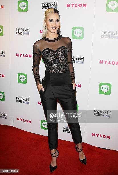 Shei Phan arrives at America's Next Top Model Cycle 21 premiere party held at SupperClub Los Angeles on August 20 2014 in Los Angeles California
