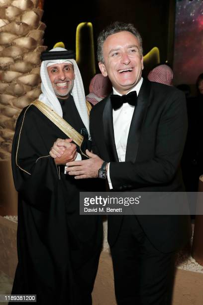 Sheik Salman Bin Isa Al Khalifa and Alejandro Agag attend the gala party celebrating the start of season six of the ABB FIA Formula E Championship on...