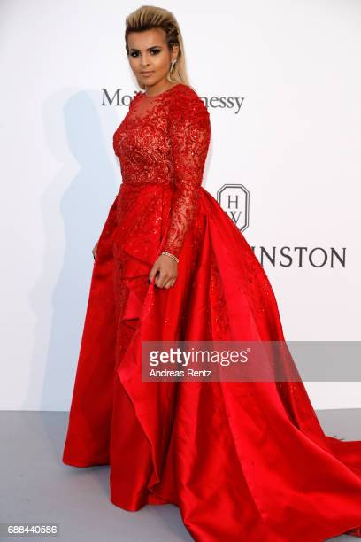 Sheika Aisha al Thani arrives at the amfAR Gala Cannes 2017 at Hotel du CapEdenRoc on May 25 2017 in Cap d'Antibes France