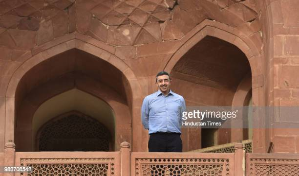 Sheikh Abdullah bin Zayed bin Sultan Al Nahyan UAE Minister of Foreign Affairs and International Cooperation visits Humayun's Tomb on June 25 2018 in...
