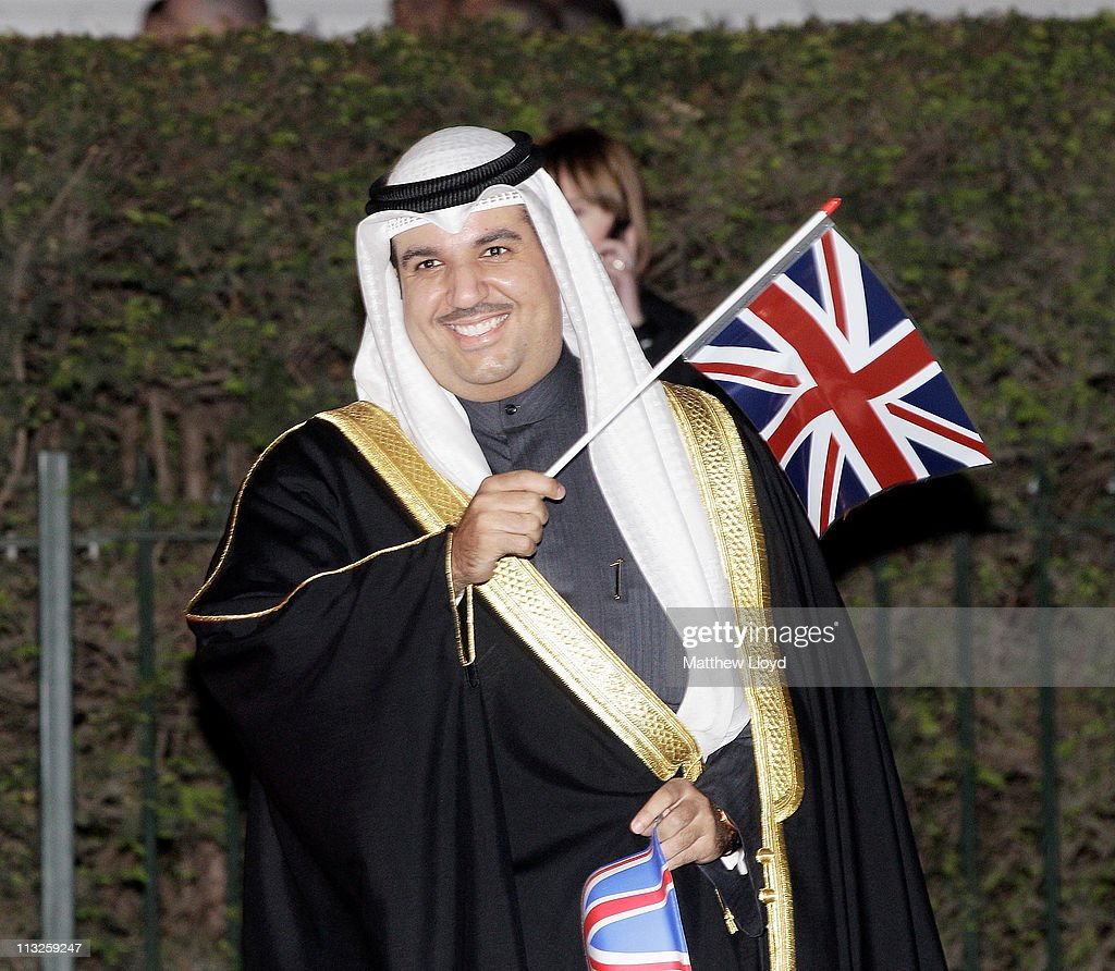 Sheikh Ahmad Hmoud Al-Sabah of Kuwait attends a gala pre-wedding dinner held at the Mandarin Oriental Hyde Park on April 28, 2011 in London, England.