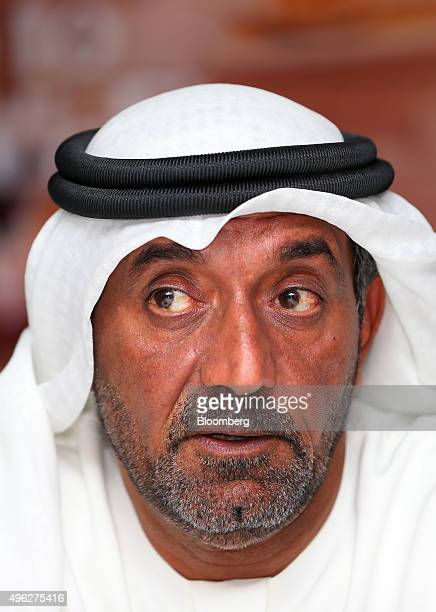 Sheikh Ahmed bin Saeed Al Maktoum chairman and chief executive officer of Emirates Airline speaks to reporters on the opening day of the 14th Dubai...