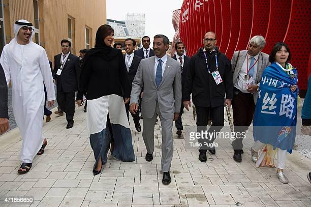 Sheikh Ahmed bin Saeed Al Maktoum visits the EXPO 2015 at Fiera Milano Rho on May 1 2015 in Milan Italy