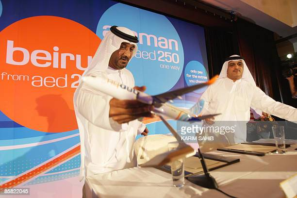 Sheikh Ahmed bin Saeed alMaktoum chairman of Dubai Airports Emirates Airlines and the new flydubai budget airline and Ghaith alGhaith flydubai's...