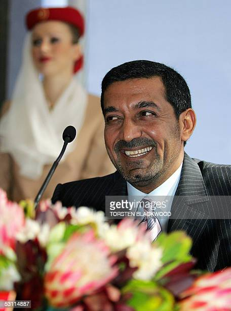 Sheikh Ahmed bin Saeed AlMaktoum Chairman of the Emirates Group smiles after revealing the Emirates' new six star Wolgan Valley Resort and Spa to be...