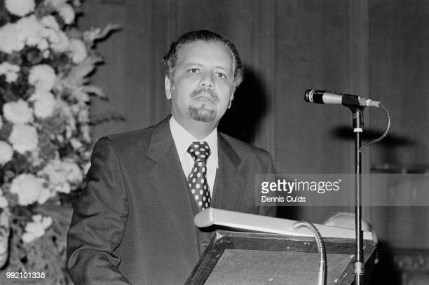 Sheikh Ahmed Zaki Yamani the Saudi Arabian Minister of Oil and Mineral Resources delivers the 1978 Annual Distinction Lecture at the Guildhall in...