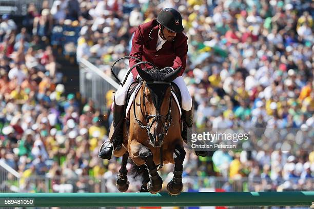 Sheikh Ali Al Thani of Qatar riding First Devision competes during the Jumping Individual and Team Qualifier on Day 9 of the Rio 2016 Olympic Games...