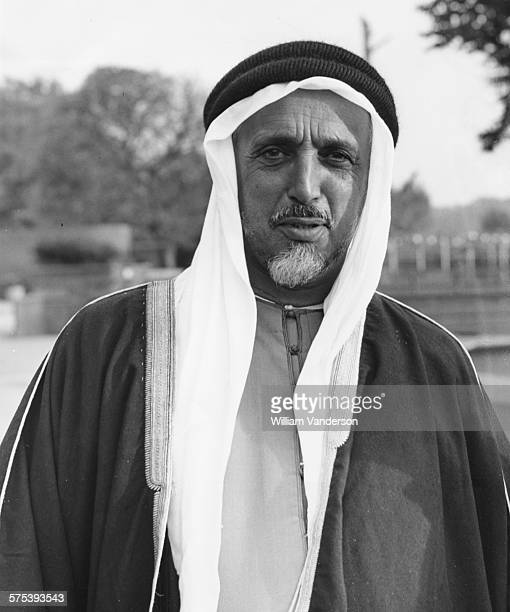 Sheikh Ali Bin Abdullah Al Thani the ruler of Qatar pictured during a visit to London Zoo October 13th 1954