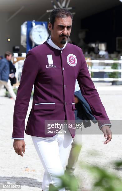 Sheikh Ali Bin Khalid Al Thani of Qatar during the CSI5 Global Champions League event during the 2017 Paris Eiffel Jumping on June 30 2017 in Paris...