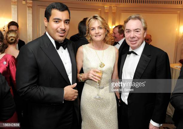 Sheikh Fahad Al Thani Lady Madeleine Lloyd Webber and Lord Andrew Lloyd Webber attend the Cartier Racing Awards 2012 at The Dorchester on November 13...