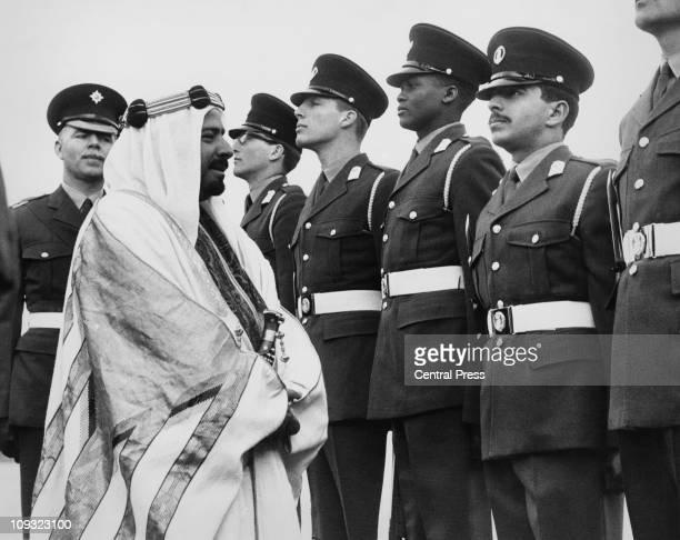 Sheikh Isa ibn Salman Al Khalifa , the Emir of Bahrain, visits the Mons Officer Cadet School in Aldershot, to see his 19-year-old son, Hamad bin Isa...