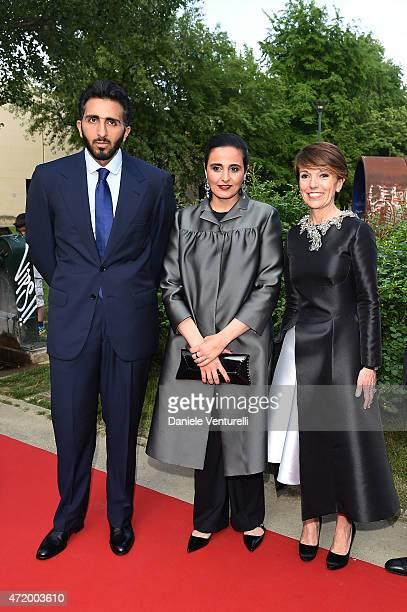 E Sheikh Jassim bin Abdulaziz Al Thani Sheikha Al Mayassa bint Hamad bin Khalifa AlThani and Patrizia Sandretto Re Rebaudengo attend Fondazione...