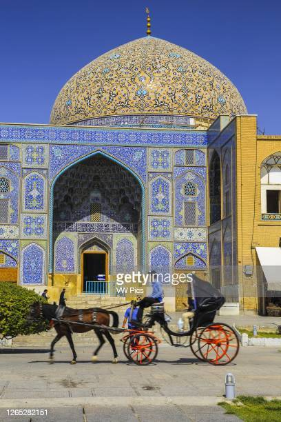 Sheikh Lotf Allah Mosque facade. Naqsh-e Jahan Square. Isfahan, Iran. Asia.