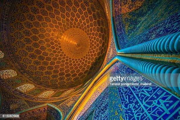 sheikh lotfollah mosque, isfahan, iran. - isfahan stock-fotos und bilder