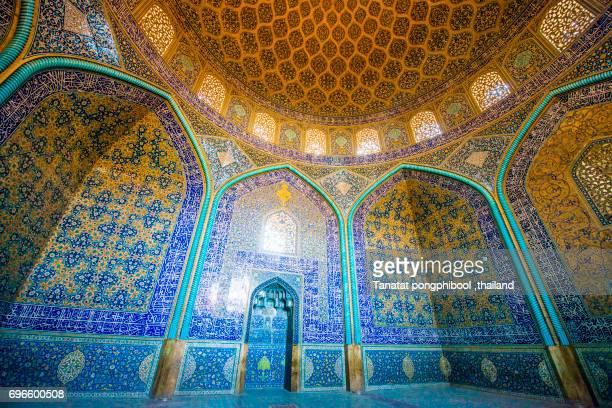 Sheikh Lotfollah Mosque, Isfahan, Iran.