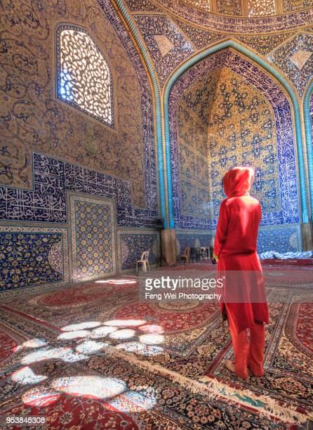 sheikh lotfollah mosque, isfahan, iran - シェイフロトフォラモスク ストックフォトと画像