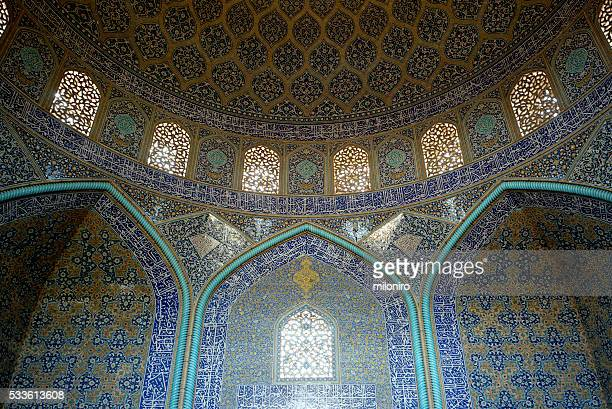 sheikh lotfollah mosque, isfahan - miloniro stock pictures, royalty-free photos & images