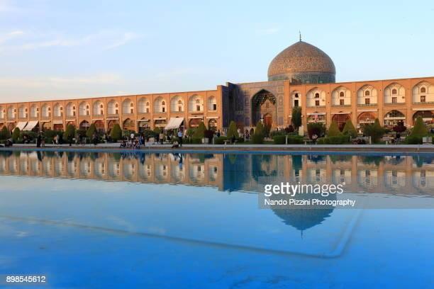 sheikh lotfollah mosque - isfahan stock-fotos und bilder