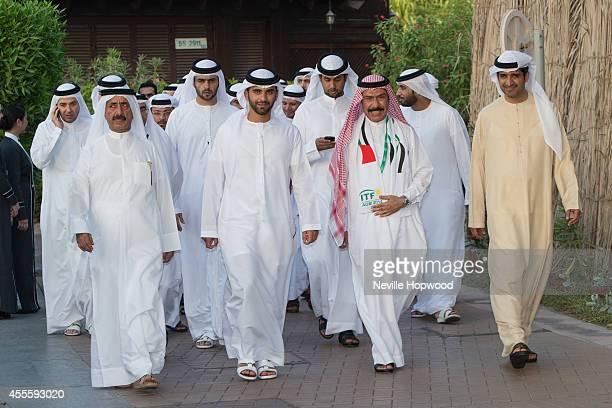 H Sheikh Mansoor bin Mohammed Al Maktoum accompanied by Hasher bin Maktoum bin Juma Al Maktoum and Abdulrahman Falaknaz and DrAhmed Al Sherif attends...