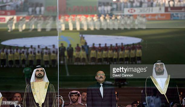 Sheikh Mohamed Bin Rashid Al Maktoum the Crown Prince and Ruler of Dubai, Ali Abdullah Saleh, President of Yemen and Sheikh Khalifa Bin Zayed Al...
