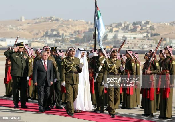 Sheikh Mohamed bin Zayed Al Nahyan Crown Prince of Abu Dhabi and Deputy Supreme Commander of the UAE Armed Forces and Jordan's King Abdullah II...